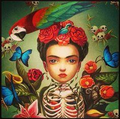 #frida #kahlo #paint #art