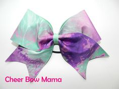 Mint & Purple Tie Dye Cheer Bow by CheerBowMama on Etsy https://www.etsy.com/listing/212138837/mint-purple-tie-dye-cheer-bow