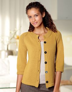 Sketchbook Cardigan FREE PATTERN from Lion Brand This raglan-sleeved cardi is classic and versatile