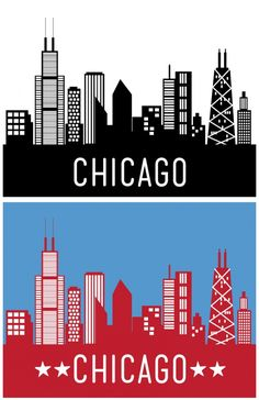 chicago skyline - for Peytons Room Chicago Poster, Chicago Art, Chicago Travel, Travel City, Chicago Skyline Tattoo, Chicago Skyline Drawing, Tour Eiffel, Silhouette, My Kind Of Town