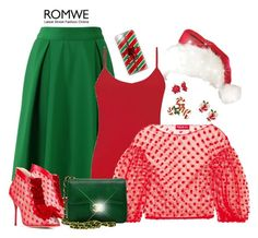 """""""Red and Green (Winter Cheer) - Contest!"""" by asia-12 ❤ liked on Polyvore featuring Chicwish, Sophia Webster, BKE, Paskal, Chanel and Casetify"""