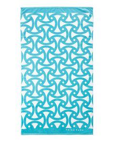 TRINA TURK Santori Beach Towel Turquoise $65 Pick Up or Ships Free BUY HERE http://rain-rossi.mybigcommerce.com/trina-turk-santori-beach-towel-turquoise-65-pick-up-or-ships-free/