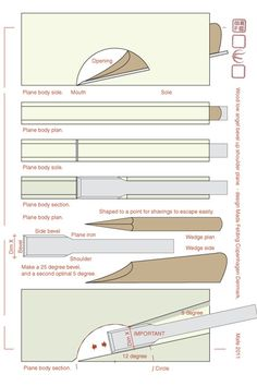 Low angel shoulder plane DIY (Div style plane) #4: Drawings Analys and Documentation... - by mafe @ LumberJocks.com ~ woodworking community
