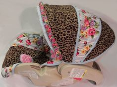 Custom Boutique Leopard Rose Infant Car Seat by smallsproutsbaby, $109.00