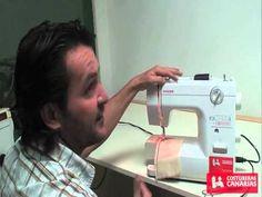 Enhebrado , regular tensiones y trucos maquinas de coser , costureras canarias - YouTube