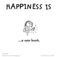 Happiness is... a new book