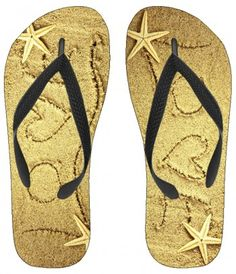 """""""Love on the Beach"""" kids flip-flops flexible molded-rubber outsole are lightweight, comfortable, and durable. Perfect for around the house or out and about. These basic thong sandals are made for warm weather fun!"""