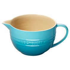 A lovely addition to your countertop, this charming batter bowl pairs enameled stoneware with a bright Caribbean finish. $42 Product: