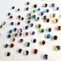 Bulk Glass Eyes - 6mm Lot of 20 Glass Doll Eyes - Random Overstock Designs | Megan's Beaded Designs fantasy eye art