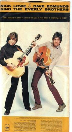 Dave Edmunds and Nick Lowe 1980