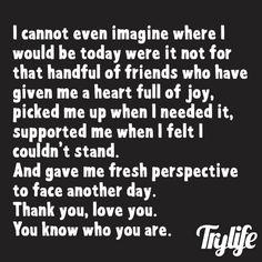 Nothing like true friendship. Best Friend Quotes, Best Quotes, Love Quotes, Inspirational Quotes, Thank You Quotes For Friends, Thank You Friend, I Love My Friends, True Friends, Amazing Friends