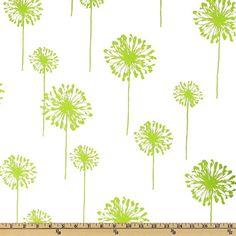 Premier Prints Dandelion Chartreuse Green by ModernalityFabrics, $9.95