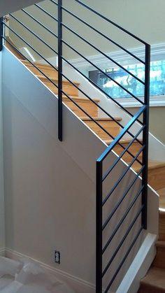 Modern cable railing. Interior rails. Home improvement. www.urbanaironworks.com