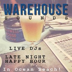 Warehouse Sounds | a series of promotional images for a beachside restaurant