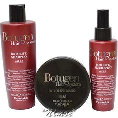 Botugen Hair System Recontruction Maintenance Kit Fanola ® Botolife Keratin 3pcs