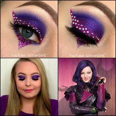 Descendants Mal Makeup | GlitterGirlC
