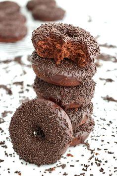 Triple Chocolate Donuts | The BakerMama