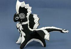 Soft toy dragon fantasy plush animal textile by UniversesSwirls