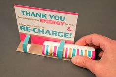 USB charger thank you card gift for school teachers