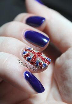 Caitlin knows how to do the caviar mani RIGHT! ♥ - I think this might be the only time I've seen caviar mani and thought 'wish I could do that'