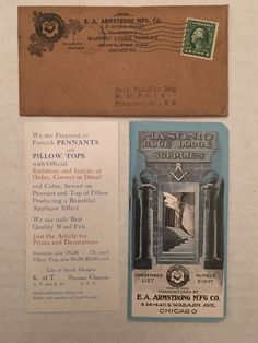 1914 K A Armstrong Envelope Cover Masonic Supply Catalog Company Chicago IL WOW | eBay