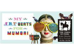 Advertising Campaign, Ads, Art Beat, Times Of India, Art Festival, Typo, Mumbai, Indian, Creative