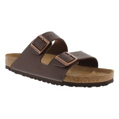 Birkenstock Women's ARIZONA dark brown 2 strap sandals 051701