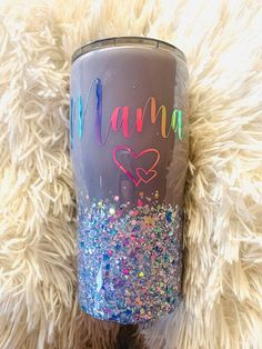 Girls Tumbler, Mom Tumbler, Tumbler Cups, Mason Jar Tumbler, Vinyl Tumblers, Personalized Tumblers, Custom Tumblers, Glitter Cups, Purple Glitter