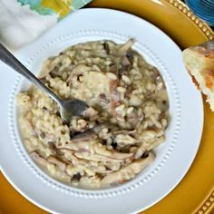 Creamy risotto with shitake and cremini mushrooms, Vidalia onions, Fontina cheese, and dried sage.....a huge explosion of flavor, and ready in just 30 minutes! Have you ever been to one of those restaurants where everything you taste is over the top incredible? Where one dish is better than the next...and there's nothing you wouldn't order over and over again? They're not easy to find, but when you find one, you know it. And it's the ONLY place you want to go...especially when...
