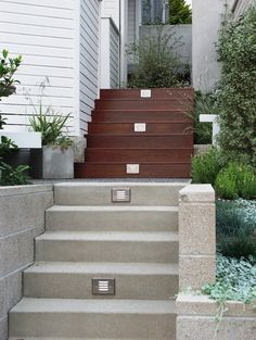outdoor lighting concrete staris - Google Search