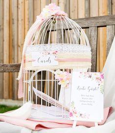 Kuvert-Käfig in zartem rosa