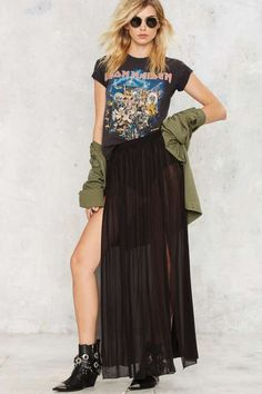 Sheer Leader Maxi Skirt | Shop Clothes at Nasty Gal!