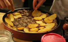 Making Siniyet Kafta - Jordanian Food. Making Siniyet Kafta