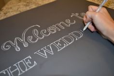 DIY Chalkboard Sign                                                                                                                                                                                 More