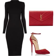 Untitled #248 by jovanaaxx on Polyvore featuring Christian Louboutin and Yves Saint Laurent