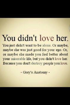 Never loved her