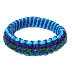 Novica Bangle Bracelet, ' and Green Hausa'