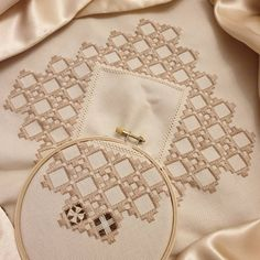 One down, 43 to go . Hardanger Embroidery, Hand Embroidery Stitches, Embroidery Hoop Art, Hand Embroidery Designs, Embroidery Techniques, Embroidery Patterns, Cross Stitch Patterns, Drawn Thread, Simple Embroidery