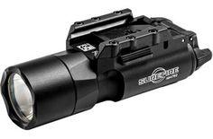 SureFire X300 Ultra Weapon Light, 6V, 600 Lumens, Univ/Pictny Rail Mount, Push/Toggle Switch, Black, Black X300U-A