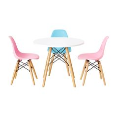 White chair/ retro chair/ kids furniture/ by Thefunboxofficial Kids Play Table, Kids Table And Chairs, Kid Table, Table And Chair Sets, White Eames Chair, Eames Chairs, Desk Chairs, Metal Chairs, Cool Chairs