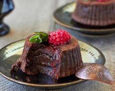 Fondant au chocolat léger aux framboises sans beurre
