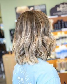 Beige blonde balayage #hairbyashcha