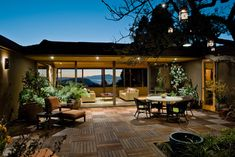 I would never go into the house.  contemporary patio by Koch Architects, Inc.  Joanne Koch
