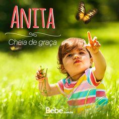 Quem aí tem uma #Anita em casa ou na barriga? No nosso site você encontra mais curiosidades desse e de muuuitos outros nomes lindos! #NomesSignificados #SiteBebê #NomesdeBebês #EscolhaDoNome