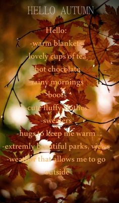 The best time of year! Here are a few reasons why: pumpkin spice lattes   crunching leaves   boots scarves leather jackets   autumn has my heart