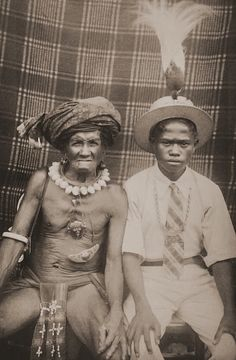 Father and Son, Tanimbar (Maluku) Photographer: Petrus Drabbe, Netherlands Dutch East Indies, Human Soul, South Pacific, Father And Son, Southeast Asia, Old Photos, 1930s, Sons, African