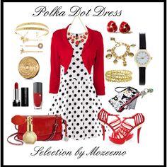 """Polka Dot Dress"" by mozeemo on Polyvore"