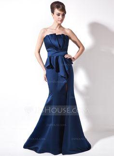 Evening Dresses - $142.99 - Mermaid Scalloped Neck Court Train Satin Evening Dress With Ruffle (008006320) http://jjshouse.com/Mermaid-Scalloped-Neck-Court-Train-Satin-Evening-Dress-With-Ruffle-008006320-g6320