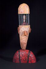 "The Philosopher by Bruce Chapin (Wood Sculpture) (24"" x 10"") locked in by facebook"
