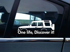 2x 'One Life, Discover it! silhouette stickers for Land Rover Discovery,classic | eBay